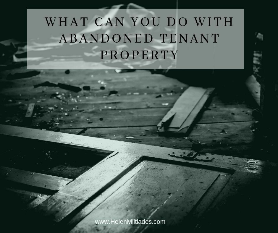 What Can You Do With Abandoned Tenant Property