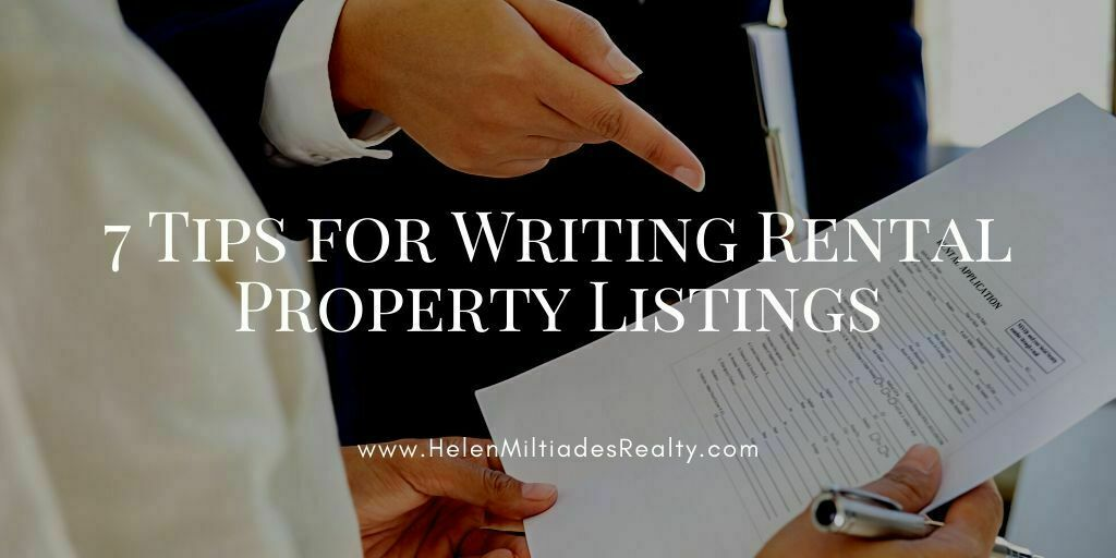 7 Tips for Writing Rental Property Listings